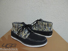 UGG RARE KALDWELL BLACK CAMO LEATHER CHUKKA LOAFERS/ SHOES, US 9/ EUR 42 ~NEW