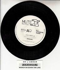 "ERASURE  Oh L'Amour 7"" 45 rpm vinyl record + juke box title strip"