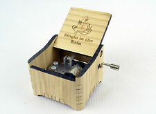 Singin` In The Rain / Personalized Hand Crank Wooden Music Box
