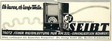 Radio Seibt Roland Berlin Reklame von 1933 Vierfarbenskala Kurzwelle ad Werbung