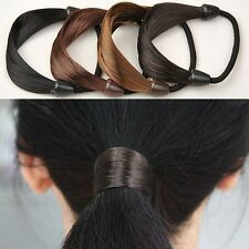 Womens Braid   Straight Wig Elastic Hair Band Rope Scrunchie Ponytail Holder 1defcfd99f9