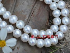 """long AAAAA 35""""12-13mm perfect round REAL south sea white pearl necklace 14K gold"""