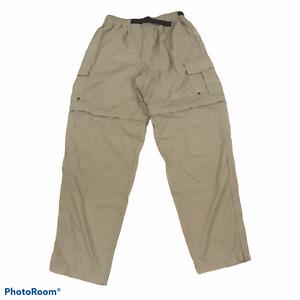 REI Men's Convertible Pants Shorts Beige Tan Nylon Size Medium M