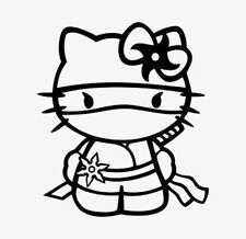 Decal Vinyl Truck Car Sticker - Hello Kitty Ninja