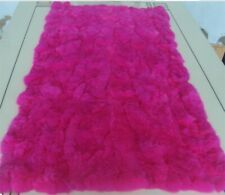 Luxury Rex Rabbit Fur Throw 100% Real Fur Warm Soft Bedspread Blanket 22''X42''