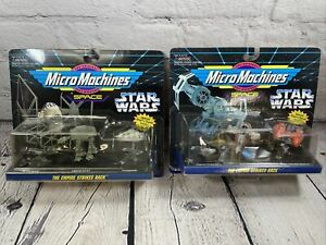 Micro Machines Star Wars Empire Strikes Back Collection #2 & 5 VTG Boba Fett