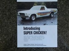 HOLDEN HQ  ''SUPER CHICKEN''  SALES  BROCHURE  100% GUARANTEE