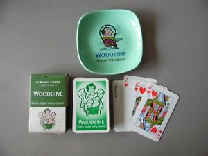 Woodbine Cigarettes Spaceman Ashtray and Boxed Playing Cards complete.