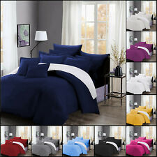 Duvet Cover With Pillowcase Quilt Reversible Bedding Set Single Double King