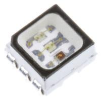 RGB PLCC6 SMD 1600mcd LED 622nm 530nm 470nm Avago Black Body ASMT-YTB2 Multi Qty