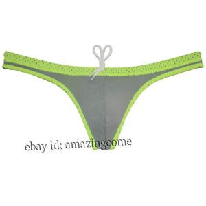 Sexy Men Tan Swimwear Thong Bikini Briefs Swimsuit Mini Tangas Beachwear Surfing