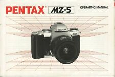 Pentax MZ-5 Original Instruction Book, User Manual, Guide, Instructions