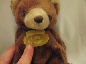 Plush I Love My Honey Brown Bear w/tag Vintage Russ #2823
