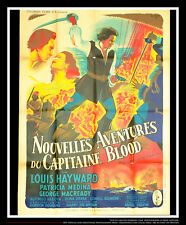 FORTUNES OF CAPTAIN BLOOD 4x6 ft French Grande Original Movie Poster 1950