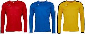 Puma Long Sleeve Football Top NEW Size S-XL Shirt Jersey Pitch Soccer Sports