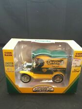 NEW CRAYOLA 1912 FORD DELIVERY TRUCK LIMITED EDITION BANK BY GEAR BOX.