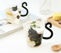 Unique Cat Shaped Coffee Mug Creative Cute Cartoon Milk Tea Juice Water Cup