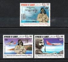 Avions Djibouti (10) série complète de 3 timbres oblitérés