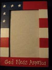 4th of July Fourth of July God Bless America patriotic picture photo frame