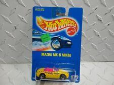 Hot Wheels #172 Yellow Mazda MX-5 Miata w/7 Spoke Wheels  VHTF