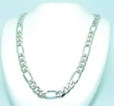 FIGARO 19 INCH LONG NECKLACE SOLID .925 STERLING SILVER 22.9 g