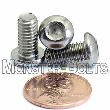 M6-1.0 x 12mm - Qty 10 - Stainless Steel BUTTON HEAD Socket Cap Screws ISO 7380