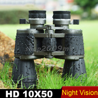 Binoculars 10x50 Military Wide-angle Zoom Telescope Powerful Bak4 Professional