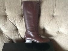 RALPH LAUREN COLLECTION MARTINA BROWN LEATHER BOOTS 6 NIB
