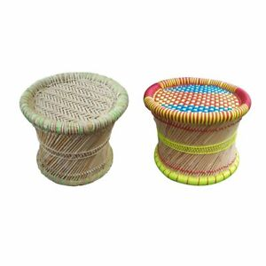 """10"""" Inches Footstool Outdoor/Indoor Eco-Friendly Material Jute & Plastic Rope"""