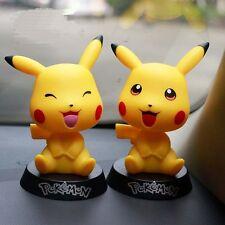 2pcs For Car Decoration POKEMON Car Styling Cute Pikachu Doll Shaking Head Smile