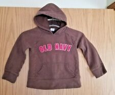 Warm Brown Girl's OLD NAVY Raised Sewn Letters Size XS Pullover Hoodie Top