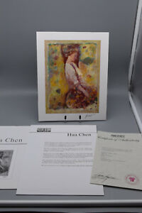 """Hua Chen & Fanch Ledan Signed Steriolithograph w Paperwork """"Gathering Blossoms"""""""