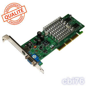 Carte graphique/video AGP 8x Geforce GF4 MX440-8X TV 64MB ATX VGA 15PIN TV OUT