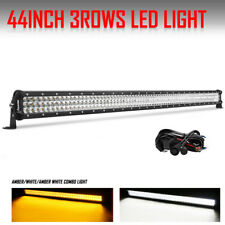 "44"" 648W Tri Row Osram Led Light Bar Work Combo Dual Color Light +Wire VS 42"" 40"