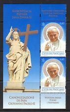 Vatican 2014 Canonization Pope John Paul II MNH Partial Mini-Sheet