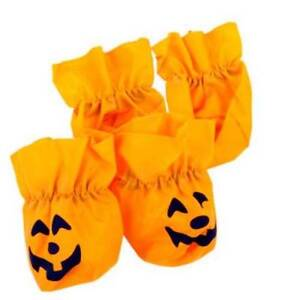 Pumpkin Disposable Dog booties size Large Halloween