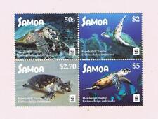 2016 Samoa WWF Hawksbill Turtle Postage Stamp Block of Four