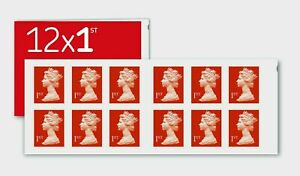 x12  Brand New Royal Mail 1st Class Stamps Book of 12 Letter Stamps