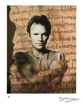 STING Hand-Signed Limited Edition Lithograph