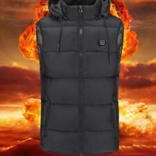 Men Women Electric USB Heated Warm Vest Jacket Coat Heating Clothing Black New