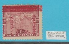 PANAMA  144  NO GUM DOUBLE OVERPRINT ON RIGHT PANAMA