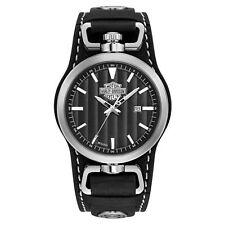 Harley Davidson 76B185 Men's Bar And Shield Rotating Case Cuff Wristwatch