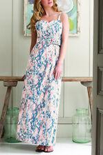 Brand New Pepperberry Cotton Chalk Snake Print Maxi Dress RRP £75