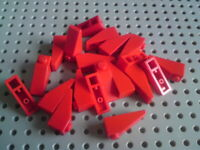 Lego Slope 33° 3x1 [4286] Red x20
