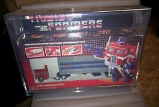 '84 G1 Transformer Optimus Prime NEAR MINT IN BOX AFA custom sliding bottom case