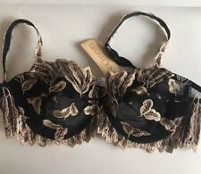 NWT Lise Charmel Full Cup Bra Black with Gold Embroidery Underwire  36C