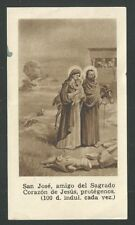 Holy card antique de la Sagrada Familia santino image pieuse estampa