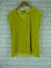 SUSSAN Top/Blouse Sz M, 12 Green Lace Front