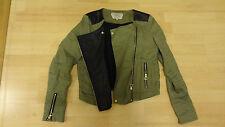 veste Zara en toile avec partie cuir noir (Taille S)