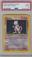 1999 POKEMON GAME MEWTWO- HOLO GRADED PSA MINT 9 #10